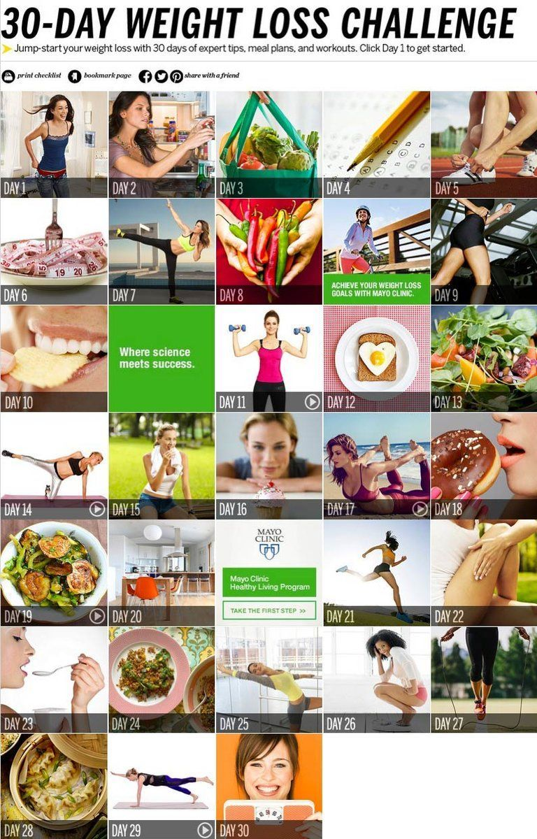 Take the 30-Day Weight Loss Challenge at Health.com! Jump-start your diet with a month of expert fitness and nutrition tips, easy meal plans, and fun workouts.