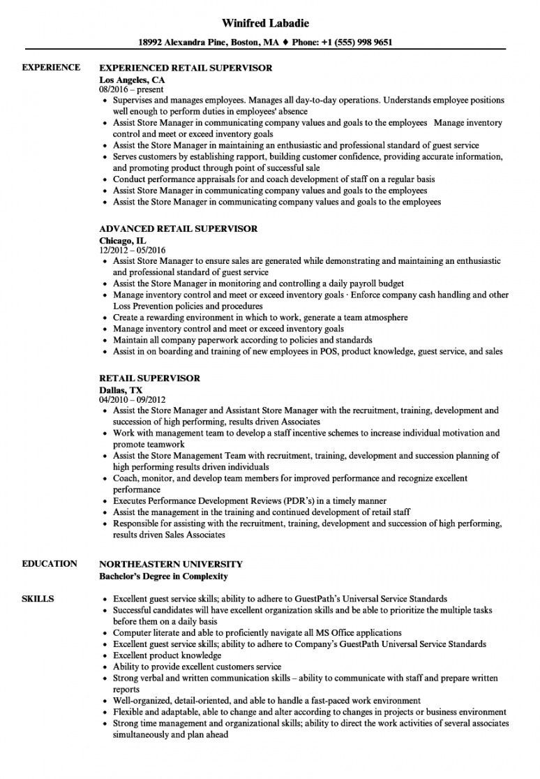 Retail Management Resume Template Resume Examples Manager Resume Resume