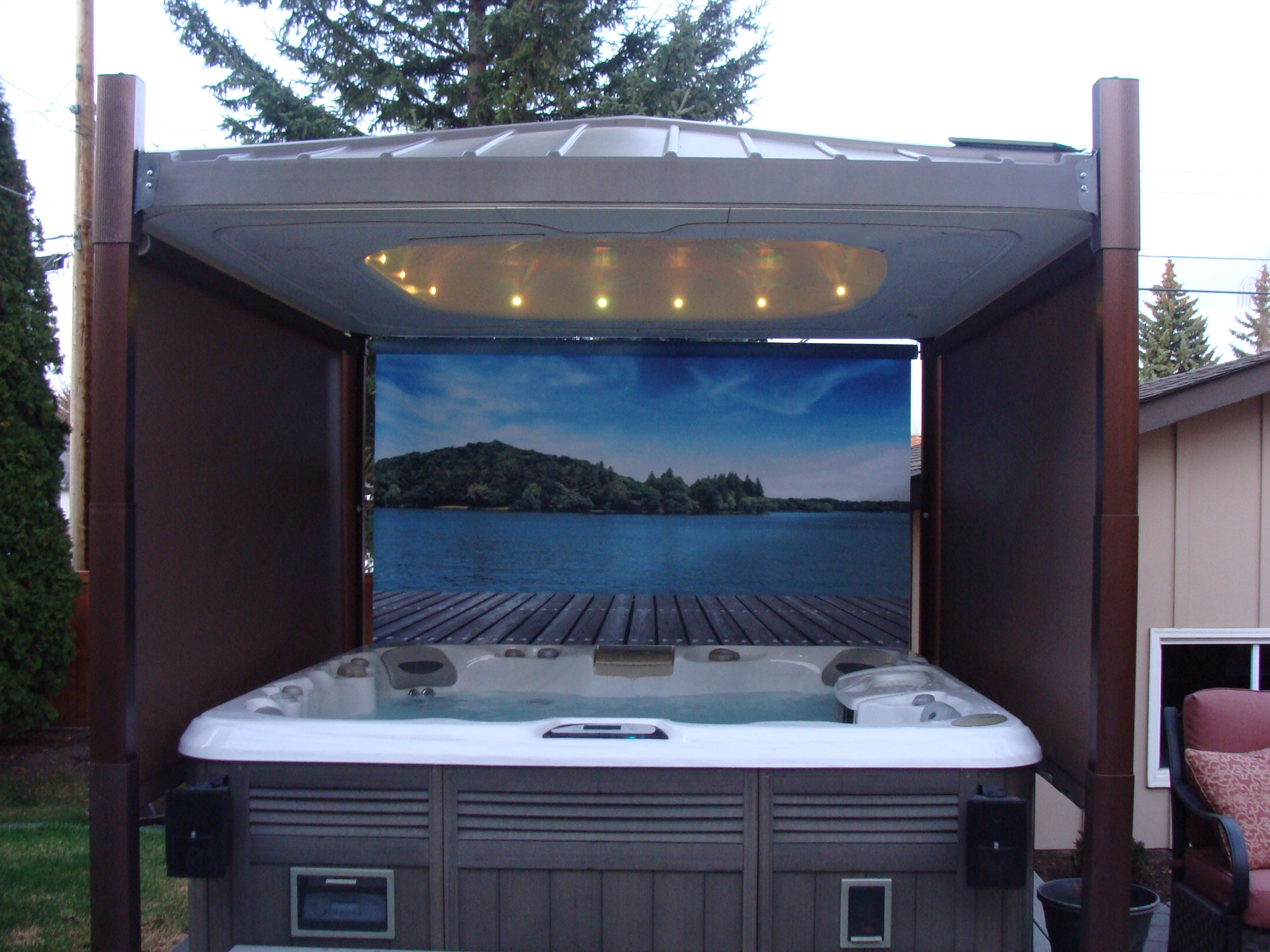 Not just a hot tub cover it is an automated hot tub gazebo cover jacuzzi sciox Image collections