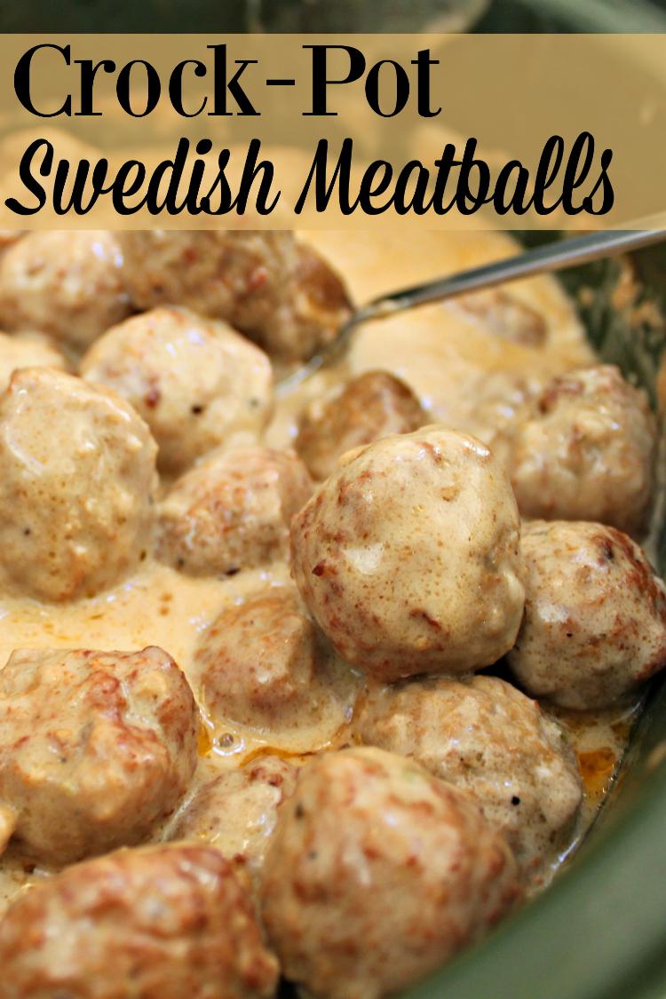 Crock Pot Swedish Meatballs Recipe Deliciousness Pinterest