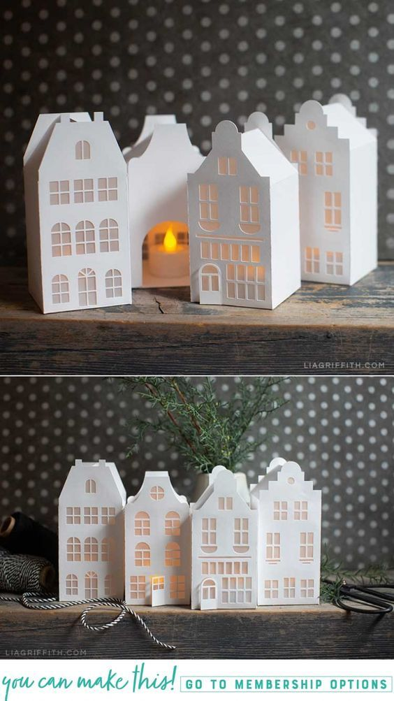 Photo of How to Make Paper Canal Houses for Christmas – Lia Griffith