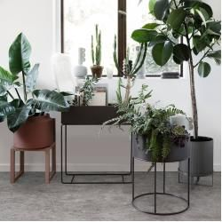 Photo of Plant Box round flower box with frame Ferm LivingFerm Living