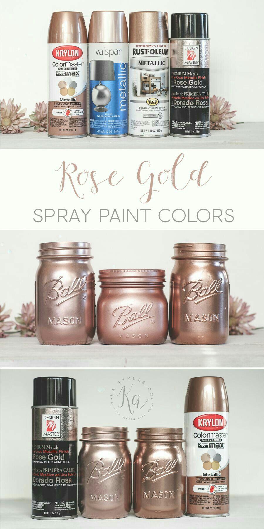 Rose Gold Vanity Decor
