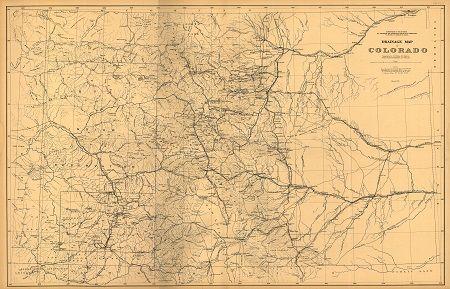 Old Colorado Map 1877 Drainageold Colorado Historic Prints Photos Colorado Map Map Colorado