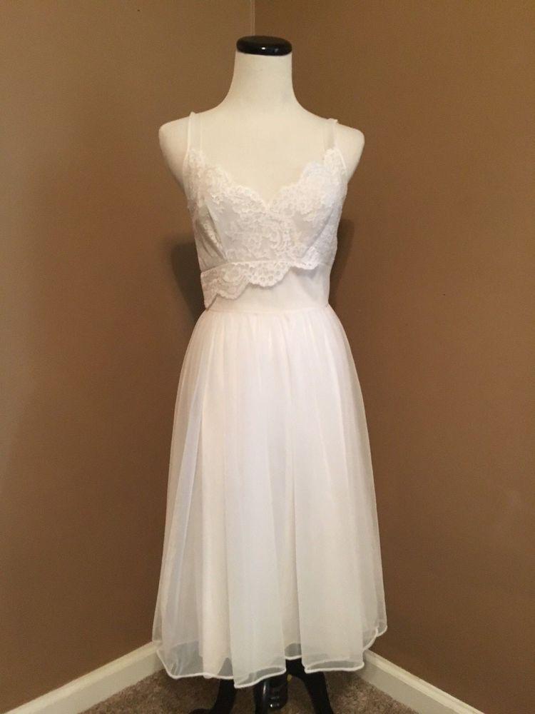 f9032511da1 Vintage nightgown 1950 s Shadowline short nightgown bridal white  Shadowline  Vintage Nightgown