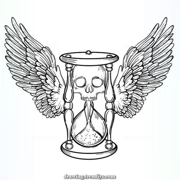 Amazing Ornamental Vintage demise hourglass Illustration of vavavka ornamental vintage de  Terrific Ornamental Vintage demise hou