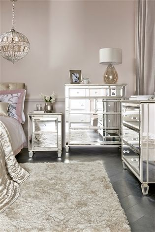 Buy Fleur Bedside Table From The Next Uk Online Shop Mirrored Bedroom Furniture Mirrored Furniture Discount Bedroom Furniture