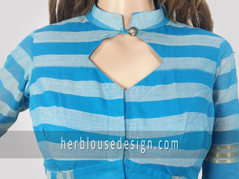 Front Neck Collar Blouse Design Pattern For Ultimate Look