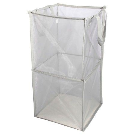 Mesh Spiral Hamper Gray Room Essentials Room Essentials