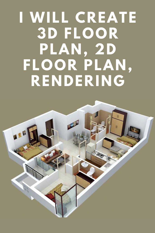 I Will Create 3d Render Realistic 3d Floor Plan Exterior Interior House Floor Plans 3d Plans House Floor Plans Open Floor House Plans Floor Plans