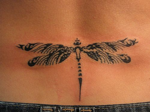 Dragonfly design tattoo