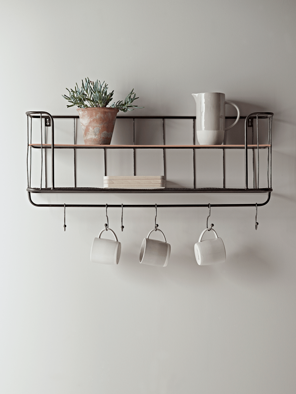 Great Industrial Shelf With Hooks   Small   Storage Shelves U0026 Hooks   Home Storage  Solutions
