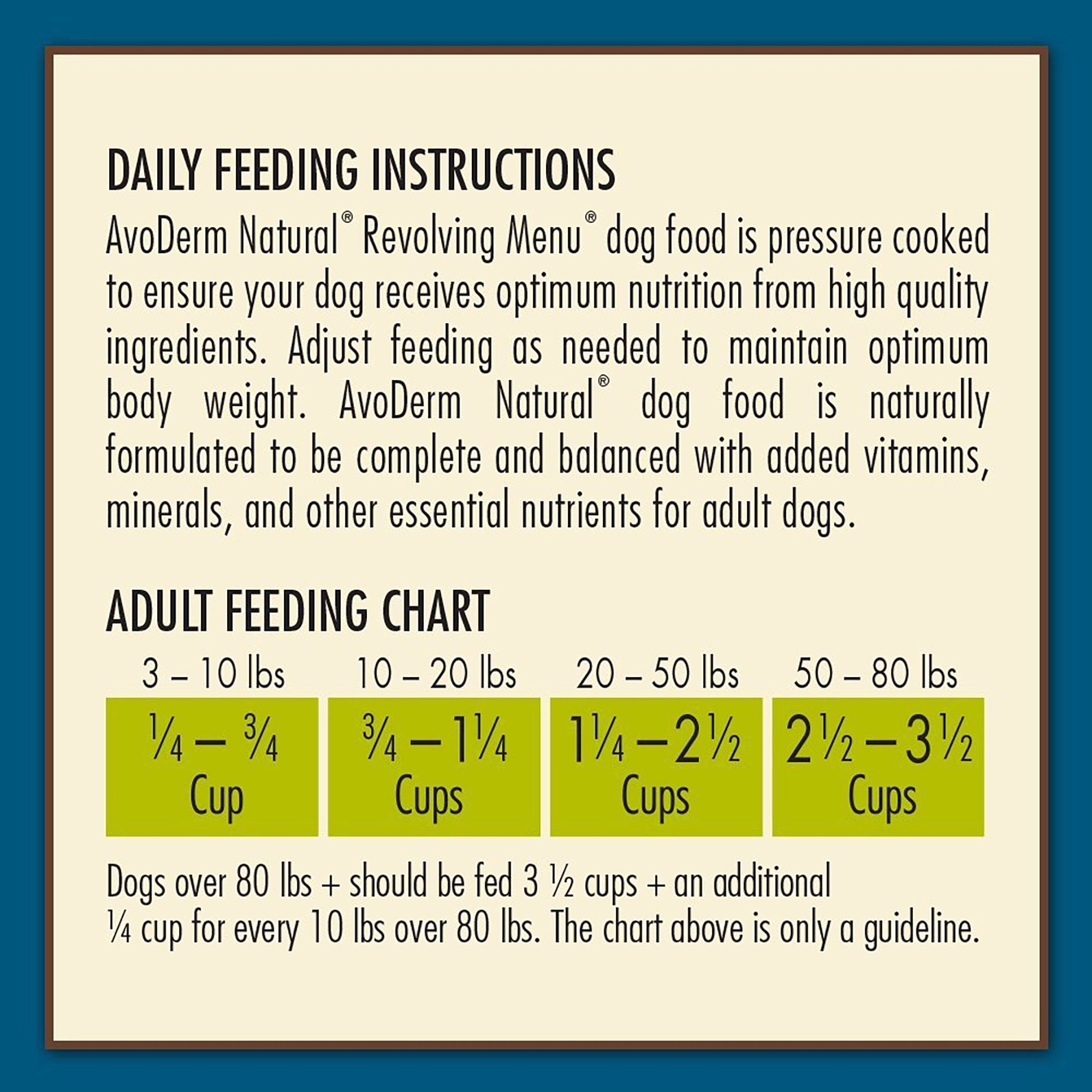 Avoderm Natural Revolving Trout Pea Recipe Dry Dog Food 22 Lbs