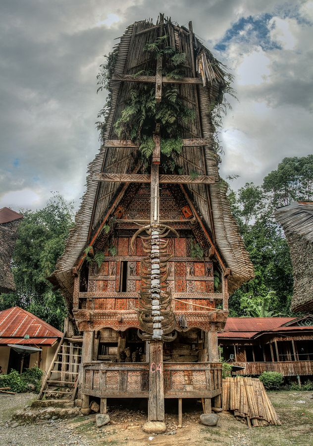 Tongkonan traditional house sulawesi indonesia for Traditionelles haus bali