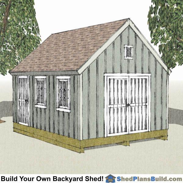 12x16 Cape Cod Garden Shed Plans – 12X16 Garden Shed Plans