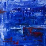 A Vision of Indigo. Oil on Canvas