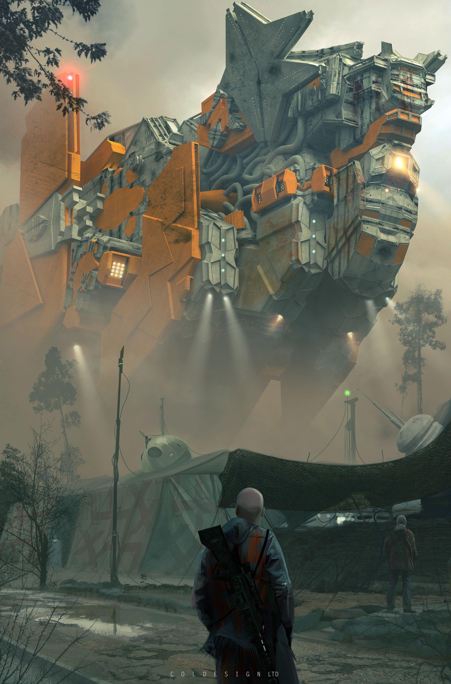 Run Environment Concept Art Futuristic Art Science Fiction Art