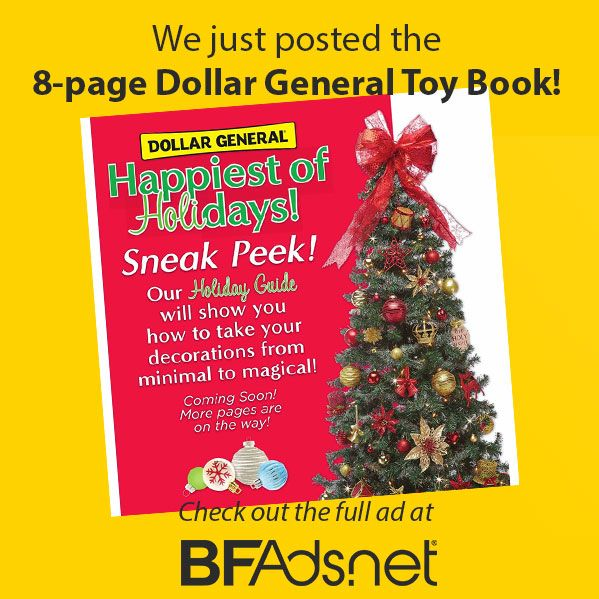 Is Dollar General Open On Christmas.Dollar General 2018 Holiday Catalog Posted Black Friday