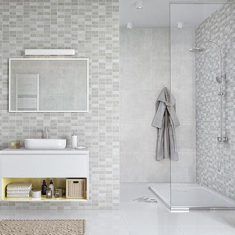 Marmo Mosaic Bathroom Panels The Bathroom Marquee In 2020 Bathroom Wall Panels Bathroom Paneling Pvc Bathroom Panels