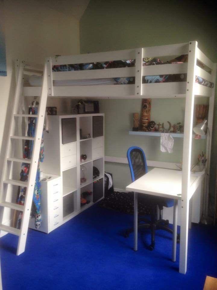 Large Loft Bed In 2020 Hochbett Jugendzimmer Kinder Zimmer Und