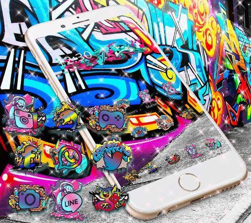 Beautiful street graffiti theme with 3D graffiti art live