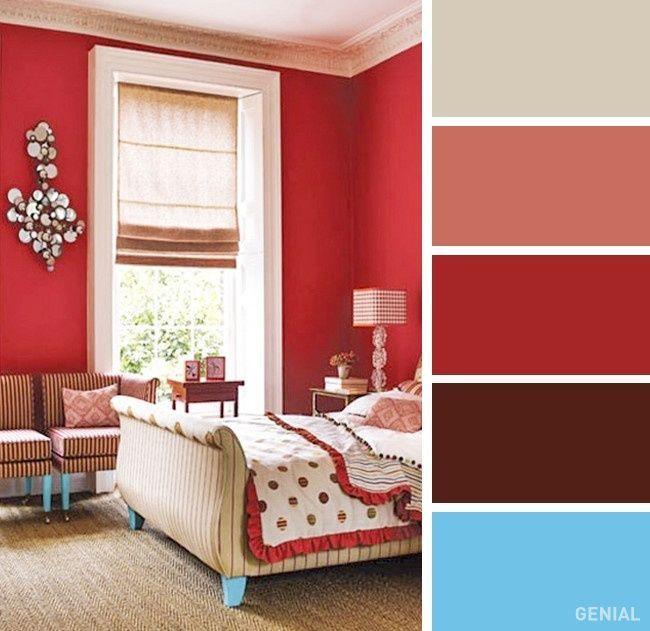 13+ Con que color combina el rojo en paredes ideas