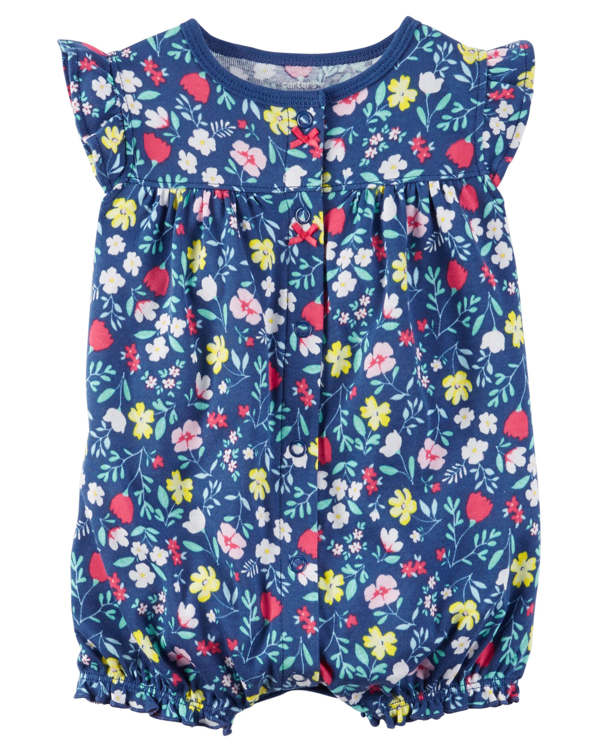 f6e3f8f83 Snap-Up Cotton Romper | Callie Jane | Baby girl romper, Carters baby ...