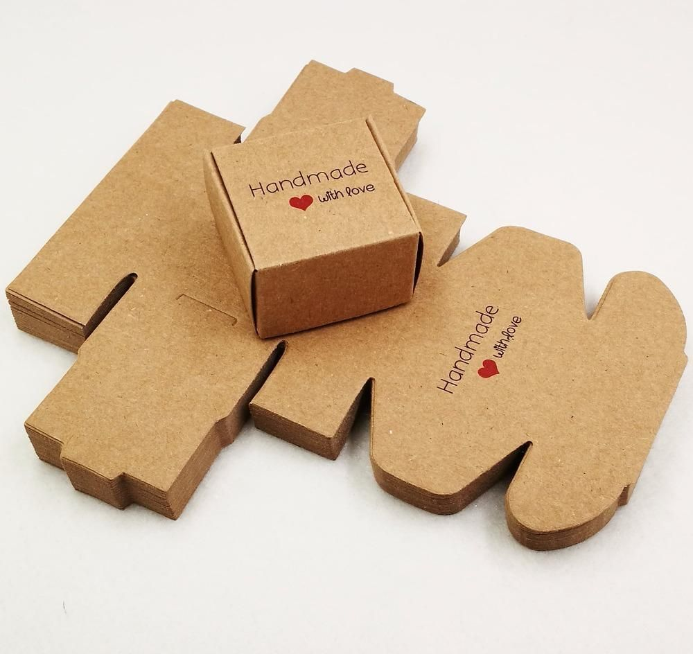 Soap Boxes Handmade With Love Set Of 50 Soappackaging Handmade With Love Paper Boxes For Professi Handmade Soap Packaging Handmade Packaging Kraft Packaging