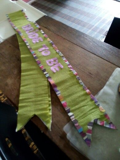 DIY Bachelorette Sash Diy Bridetobe