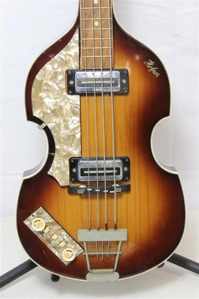 Beatles Guitars: VINTAGE C.1969 Hofner 500/1 LEFTY Beatle Bass Electric