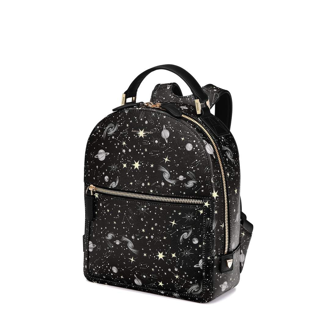 99161e70375 Constellation Backpack in Black Constellation Print from Aspinal of London
