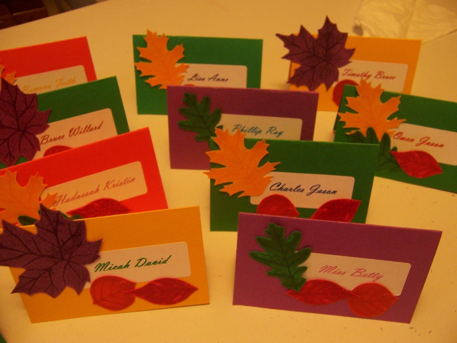Thanksgiving Name Cards With Images Thanksgiving Name Cards