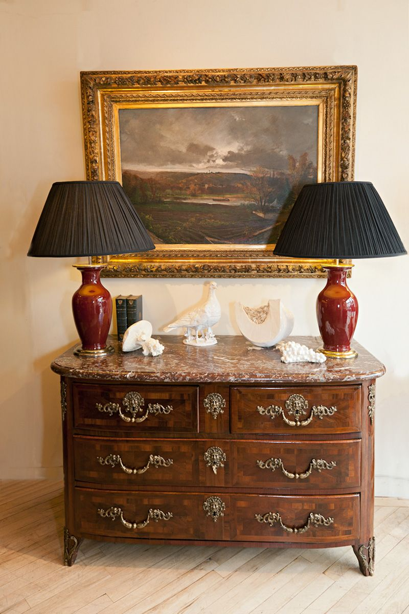 Lovely Vignette Featuring 18th Century French Commode   Julia Boston  Antiques