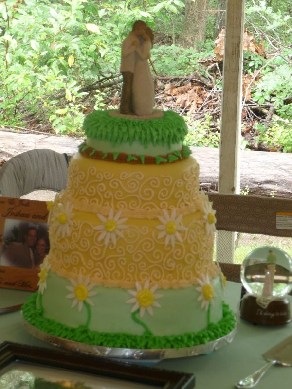 outdoor hippie wedding cake   Cakes I have made   Pinterest   Hippie ...