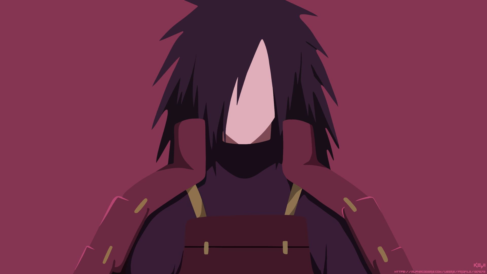 Anime Naruto Black Hair Boy Madara Uchiha Minimalist Uchiha