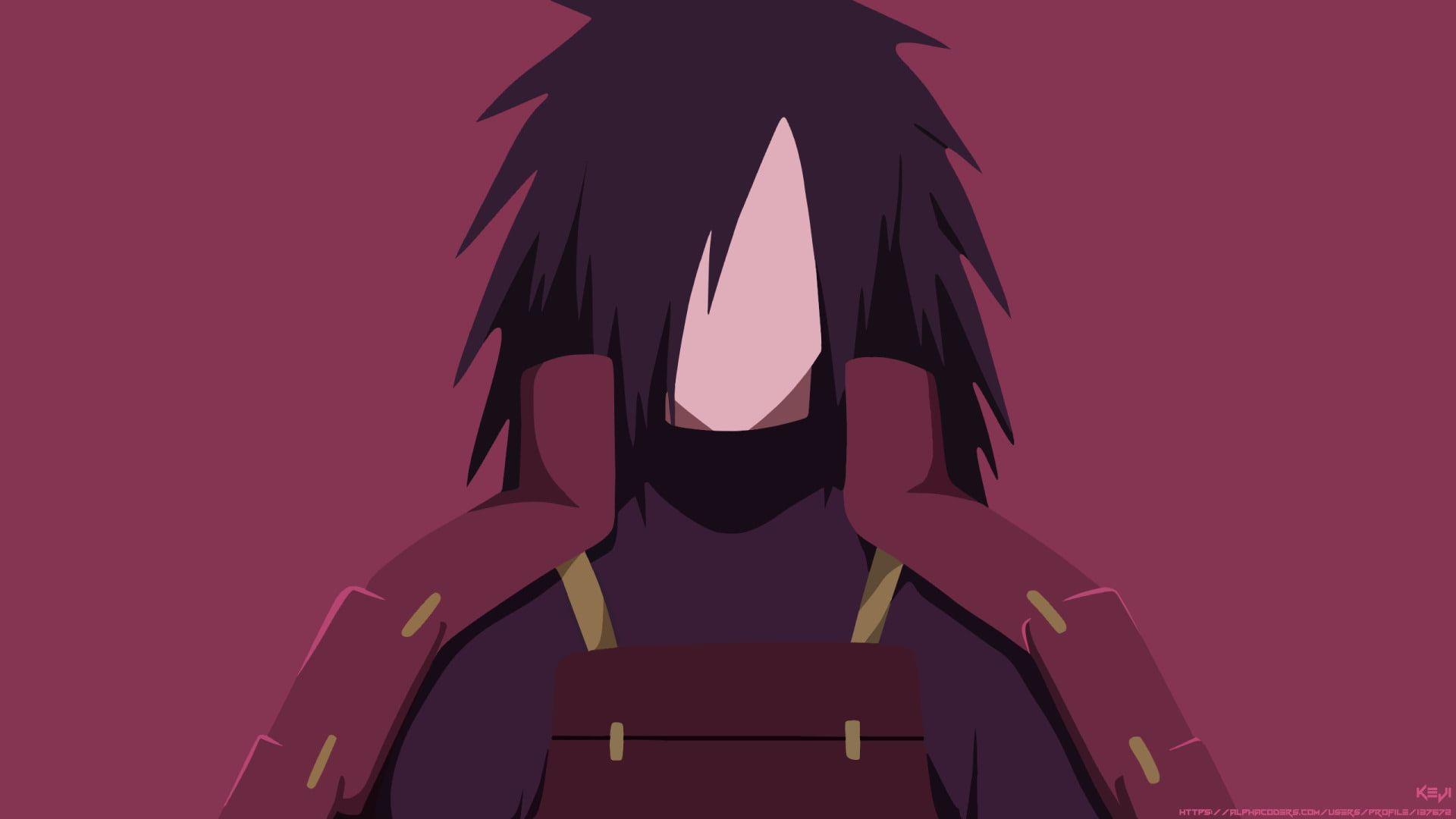 Anime Naruto Black Hair Boy Madara Uchiha Minimalist Uchiha Clan 1080p Wallpaper Hdwallpap Hd Anime Wallpapers Profile Wallpaper Naruto Wallpaper Iphone