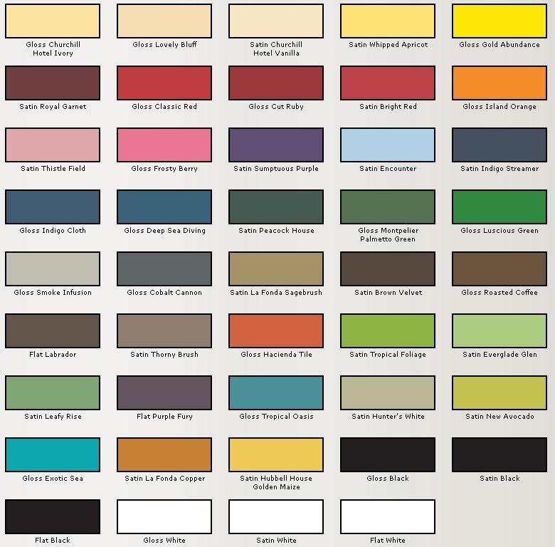 Valspar Spray Paint Colors