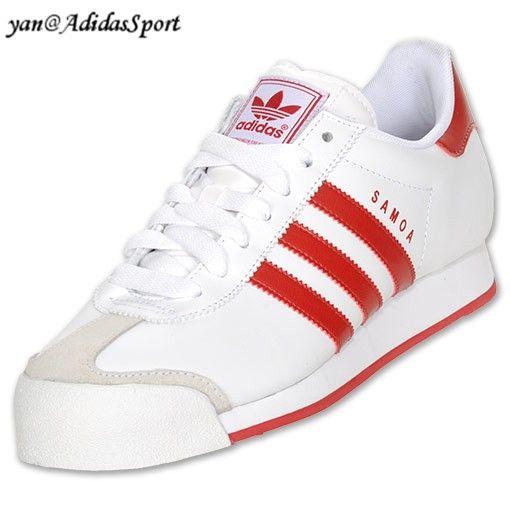 best service d8451 c1cd3 Hombres Adidas Originals Samoa Zapatos Casuales Blanco Rojo Tiendas Online