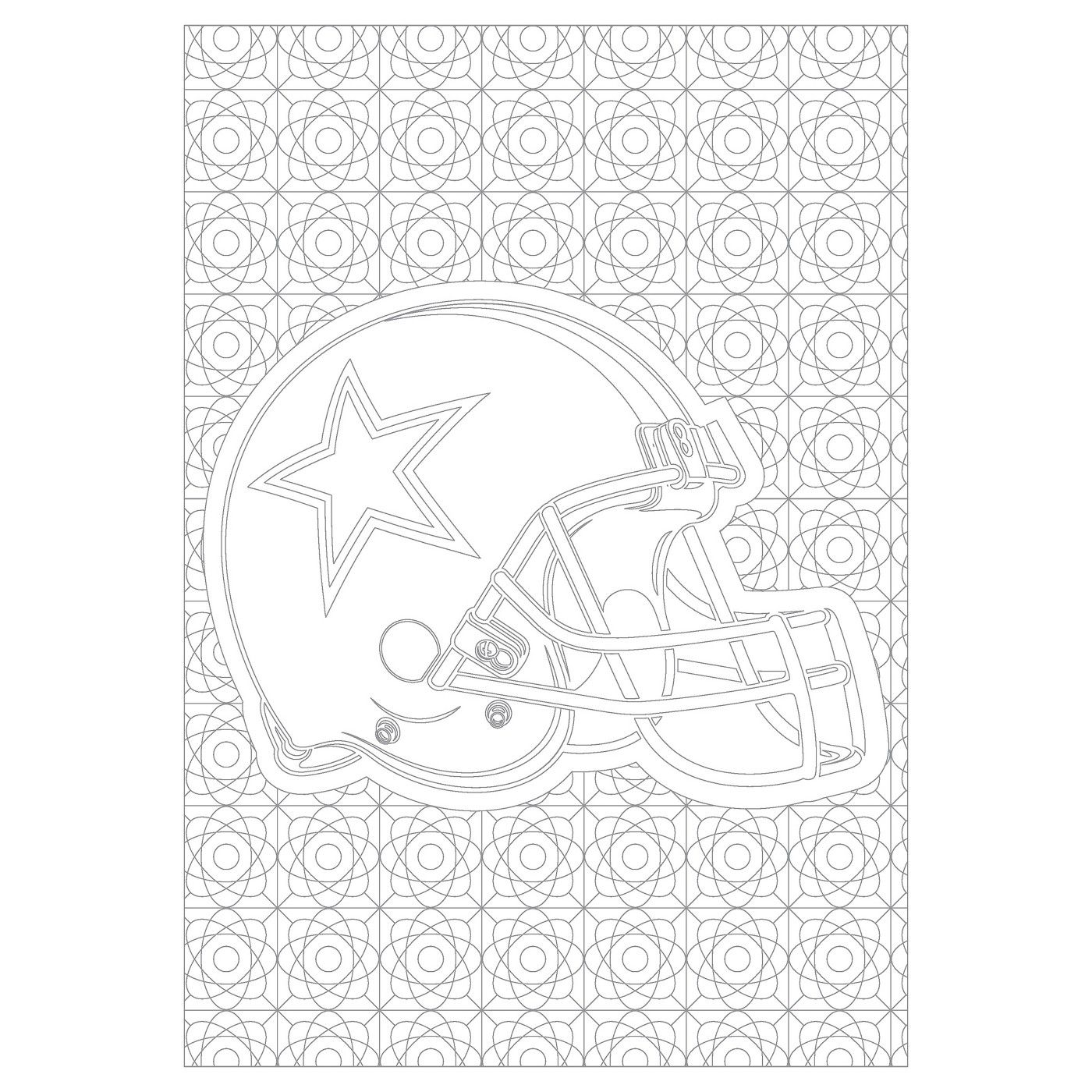 NFL In The Sports Zone Adult Coloring Book image 5 of 6