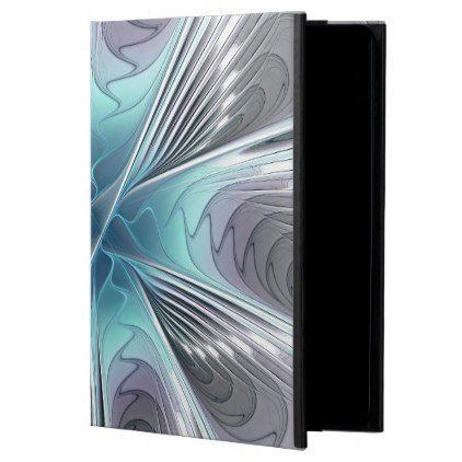 #elegant - #Elegance Modern Blue Gray White Fractal Flower Powis iPad Air 2 Case
