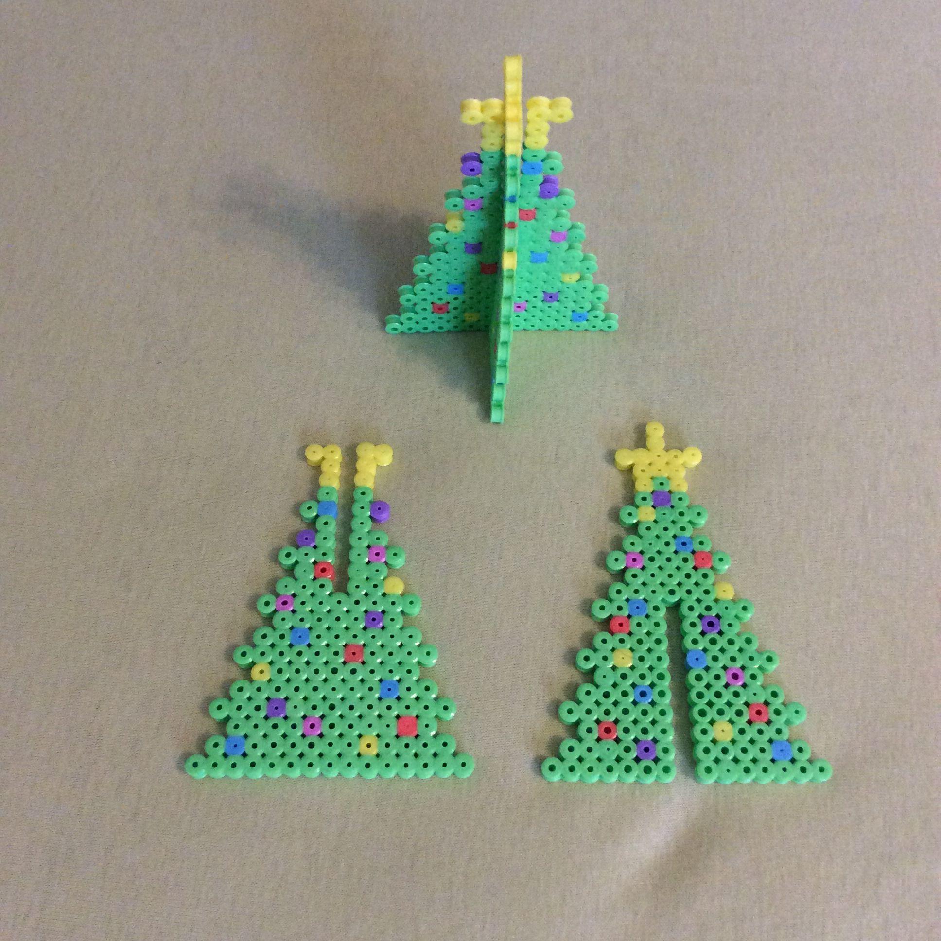 25000 Subscribers 3d Perler Beads Santa Sleigh 14