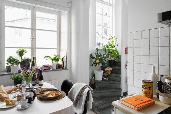 Cocinas blancas, pequeñas y modernas