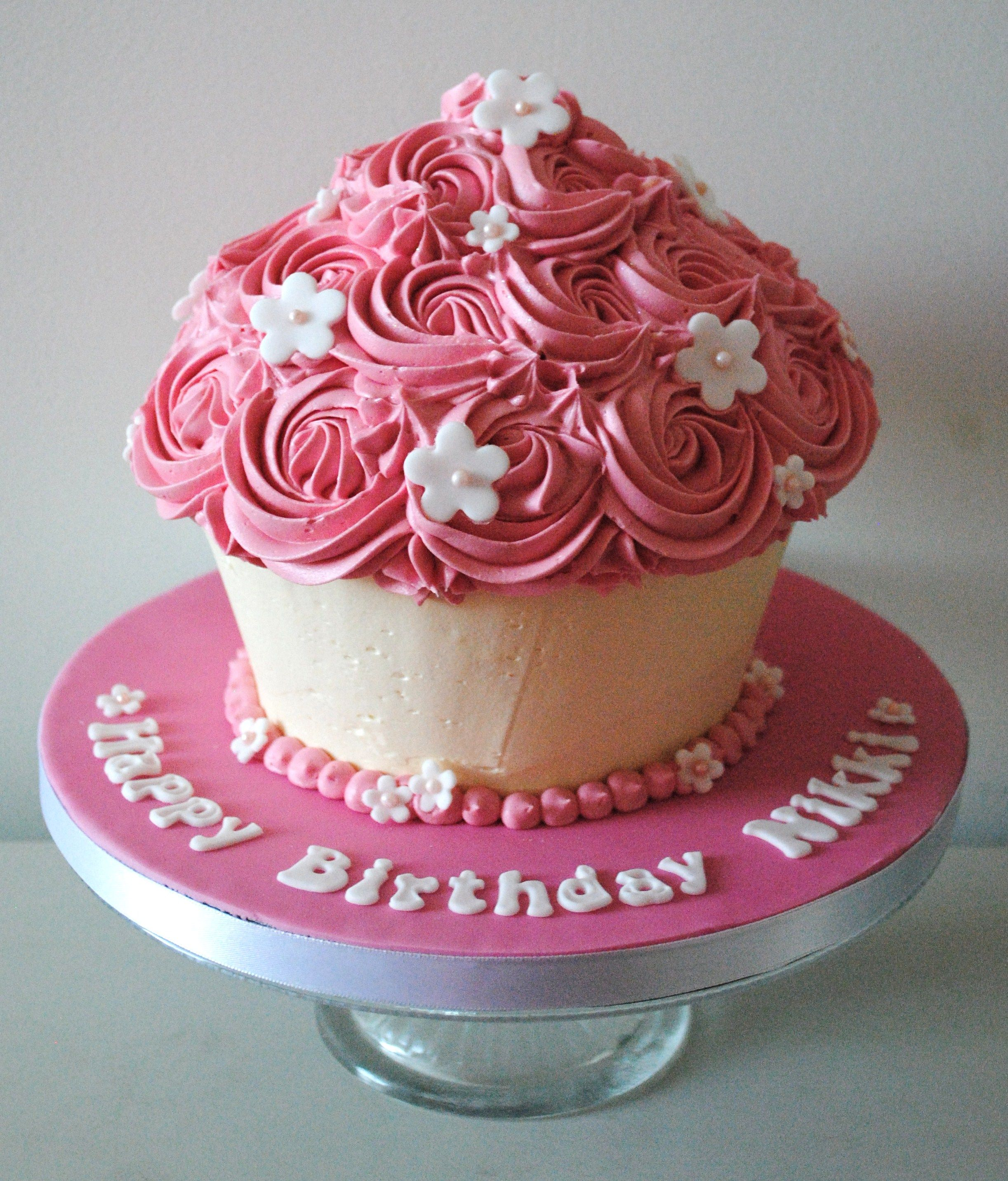Birthday Cupcakes Designs: Giant Cupcake Cake - Google Search