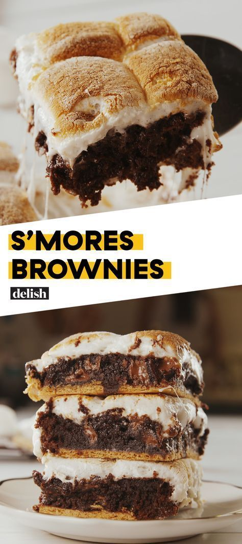 S'mores Brownies S'mores + Brownies = Dessert will NEVER be the same Get the recipe at .