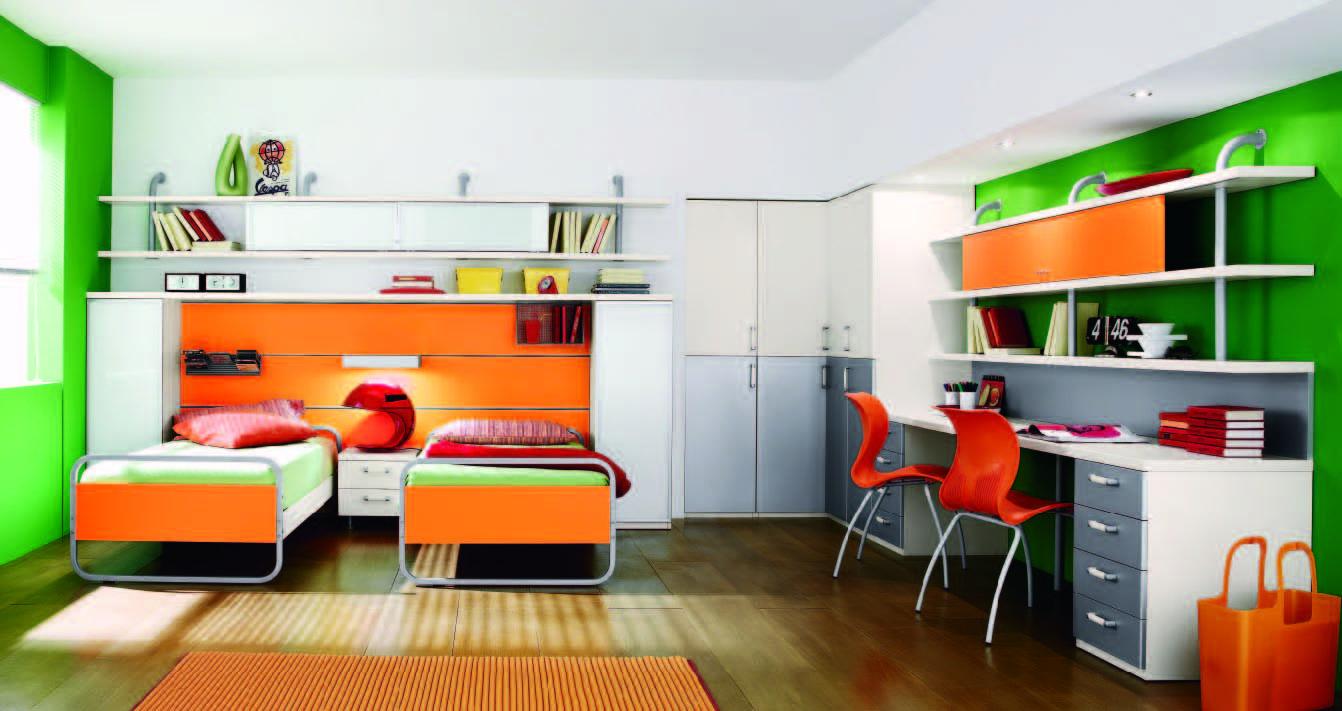Best Bedroom Dazzling Boy Bedroom Ideas Use White Orange 400 x 300