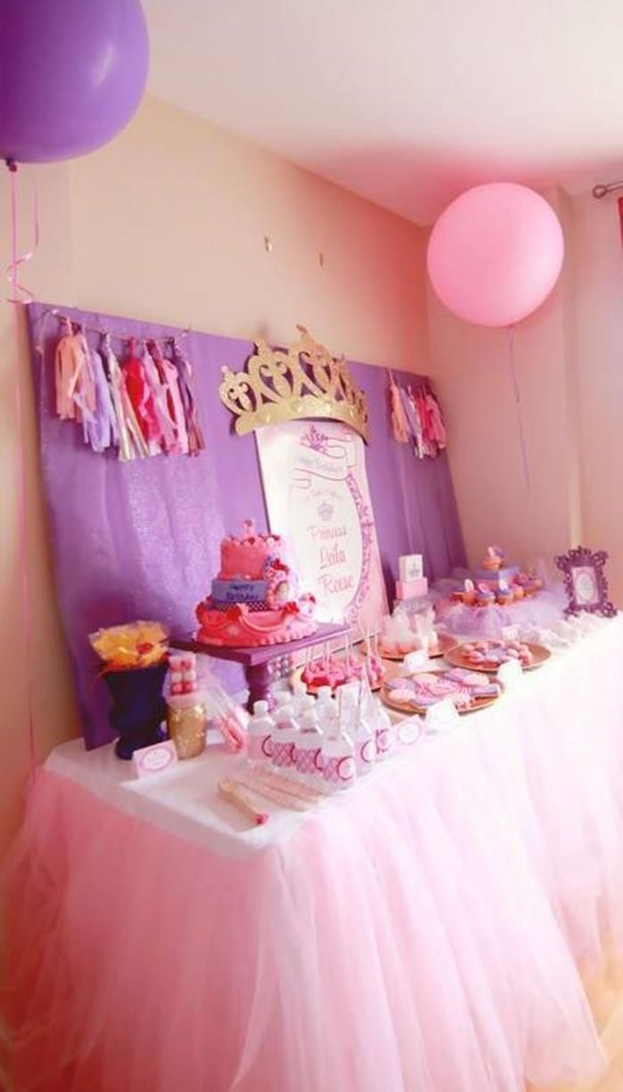 Like The Crown On Backdrop Princess Party With Such Cute Ideas Via Kara S