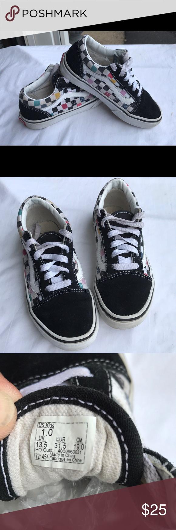 Youth Checker \u0026 Black Vans Sneakers