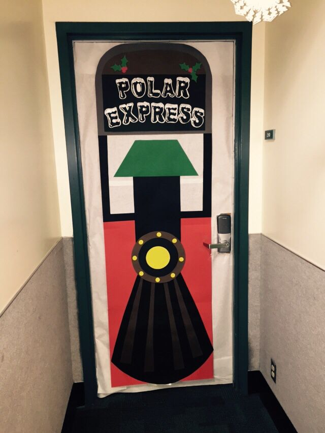 Polar Express Door Decor & Polar Express classroom door !! | Colleenu0027s fun creations ...