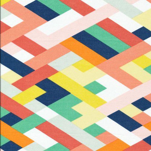 True Colors - Orgainc Cotton Voile - Let's Have a Party   Simplifi Fabric