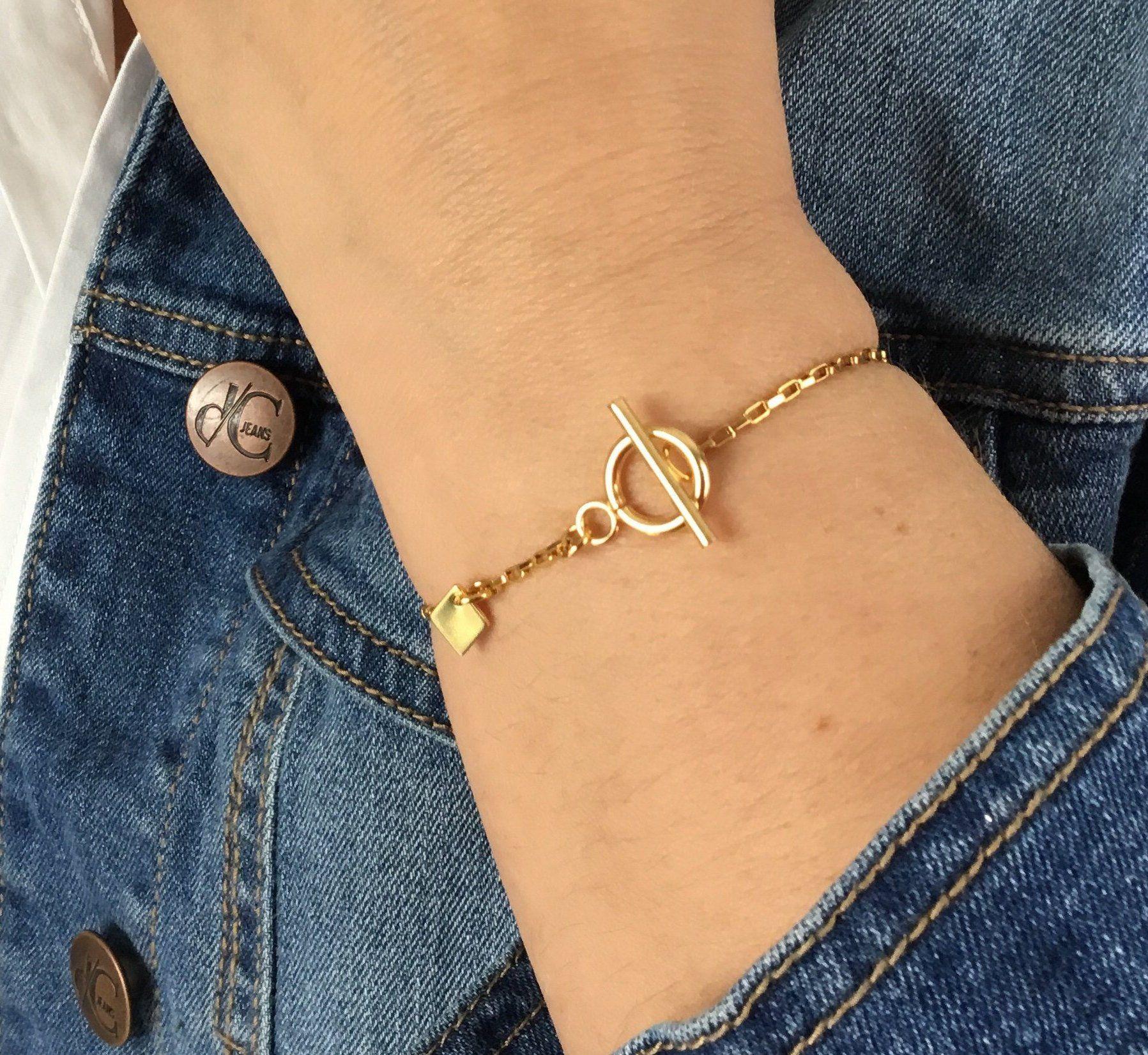 bracelet femme acier inoxydable or